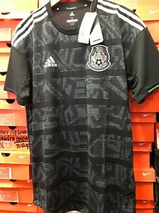 finest selection ea13b ad258 Details about adidas Mexico Authentic Black Soccer Jersey 2019 Size L
