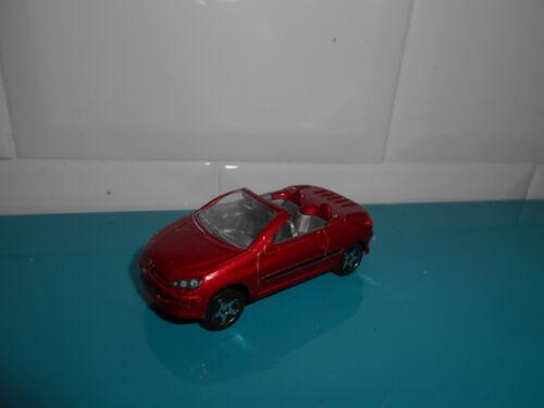 04.02.18.4 Peugeot 206CC  REF206A Voiture Majorette