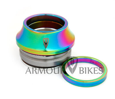 """Armour Bikes BMX Headset Oil Slick Jet Fuel Bicycle Integrated 2017 size 1-1/8"""""""
