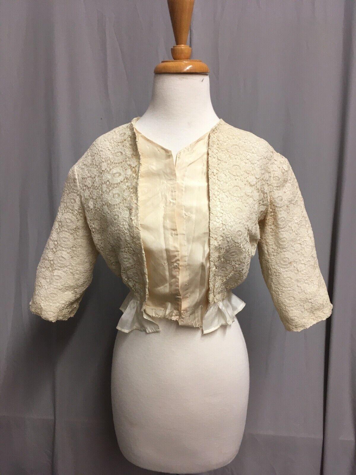 #21-66, Edwardian 1910's Lace Bodice