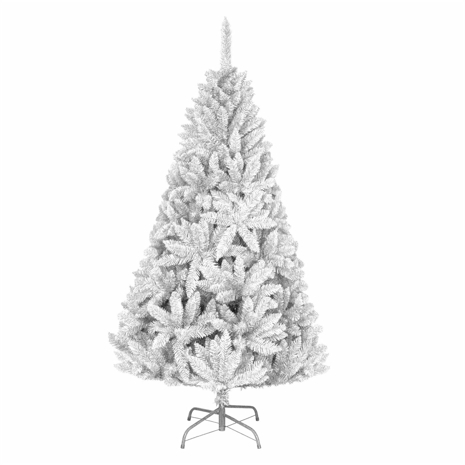 7ft Imperial Pine Weiß Artificial Christmas Tree Metal Stand Xmas Decorations