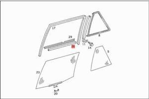 Details about Genuine Sealing Rail MERCEDES S124 W124 Estate Saloon  1247250265