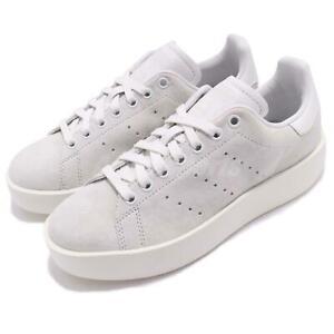 Neuf Adidas Original Pour Femme Stan Smith Bold S75213 Blanc