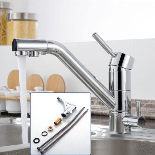 Neu Küchenarmatur Einhebel Spültischarmatur 3 Wege Wasserhahn Ein Loch Messing