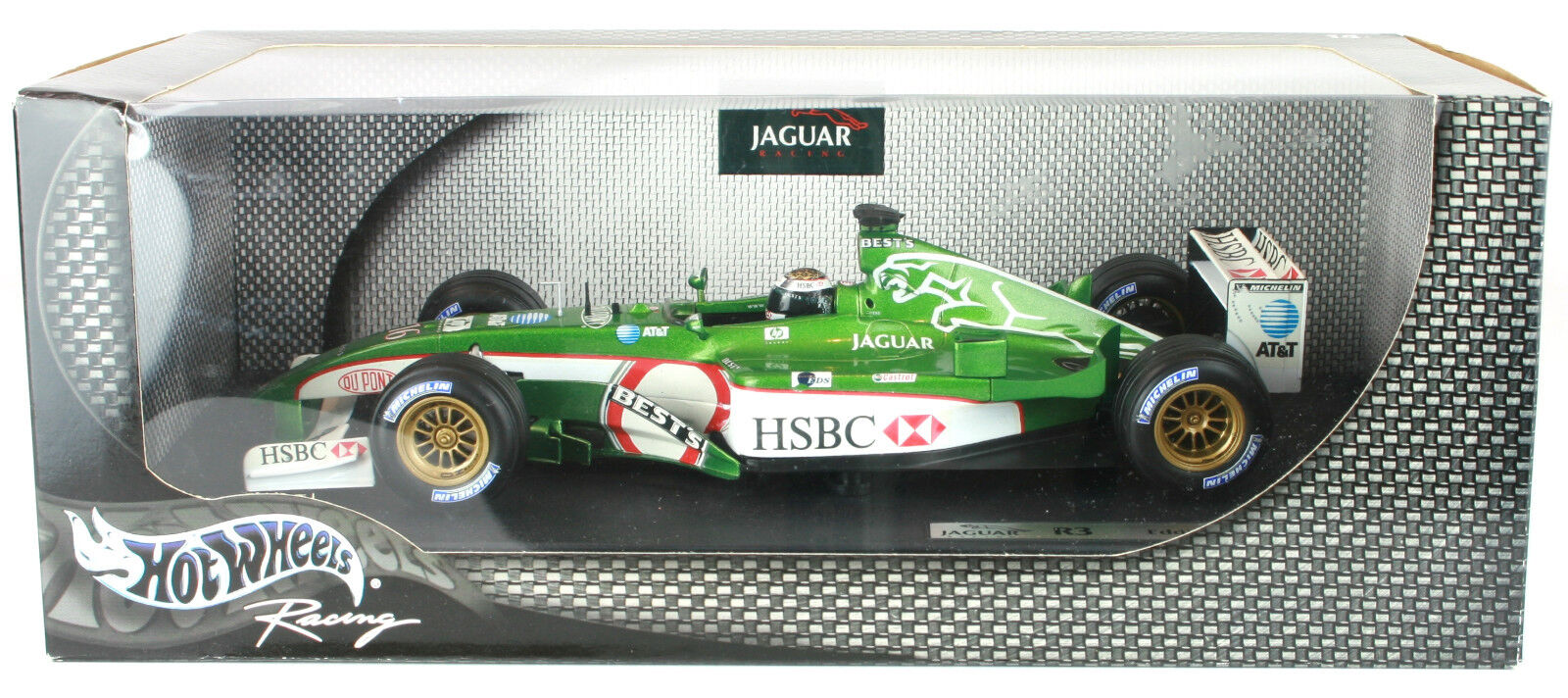 EDDIE IRVINE JAGUAR R3 2002 HOT WHEELS 1 18th F1 scale model voiture