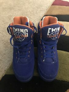 sale retailer 3cd57 af35b Image is loading PATRICK-EWING-ATHLETICS-33-HI-Royal-Suede-White-