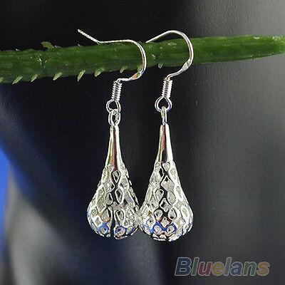 Vintage Hollow Silver/Gold Plated Fashion Chandelier Dangle Ear Drop Earrings B8