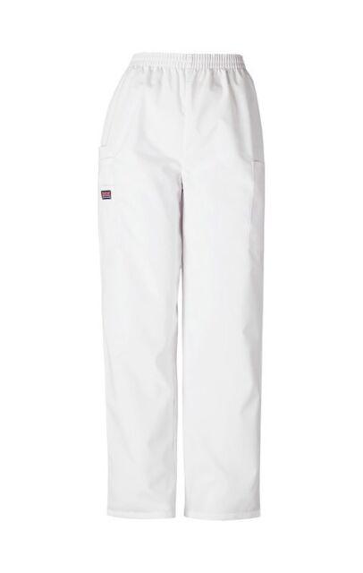 138bf4aa9a1 Cherokee Workwear Scrubs 4200 WHTW Pull On Cargo Scrub Pant in WHITE
