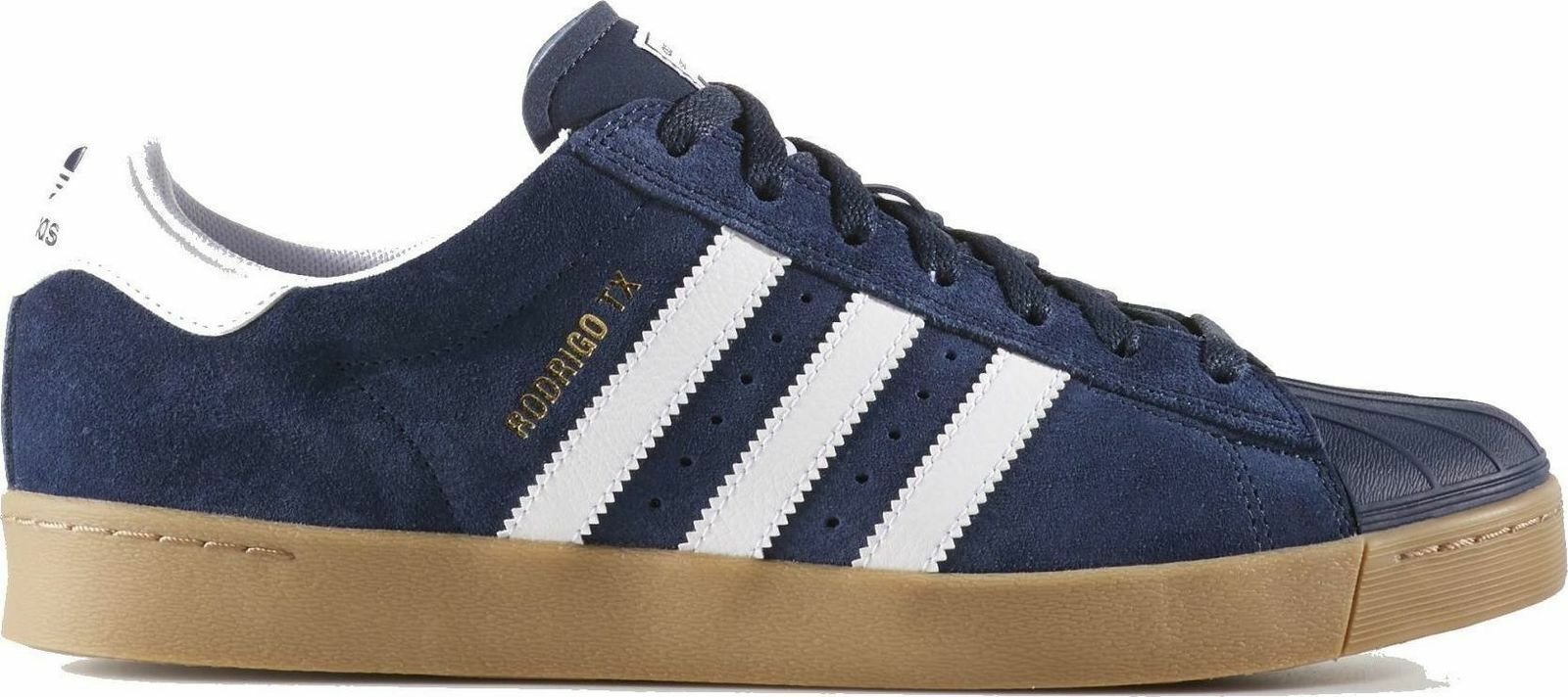 Adidas Originals Mens Superstar Vulc ADV  Navy Trainers UK 6.5