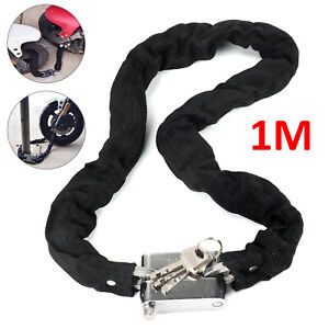 1M-Security-Metal-Motorbike-Motorcycle-Bicycle-Heavy-Duty-Chain-Lock-Padlock