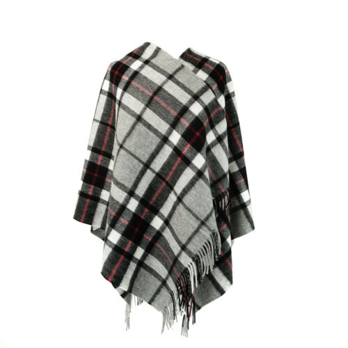 House of Edinburgh 100/% Lambswool Scottish Tartan Serape//Mini Cape-MANY TARTANS!