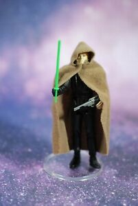 VINTAGE-Star-Wars-COMPLETE-Luke-Skywalker-JEDI-KNIGHT-ACTION-FIGURE-KENNER-green