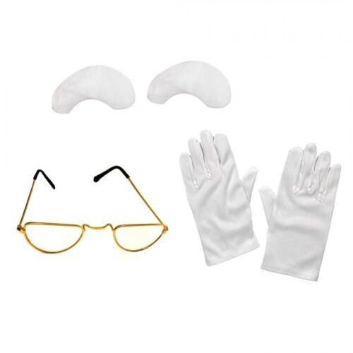 Santa 3pc Set Costume Accessories Glasses Gloves Eyebrows Father Xmas ILFD2160