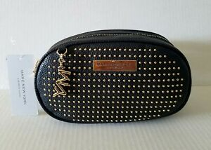 Details About Marc New York Black Gold Studded Small Belt Bag Pack Waist