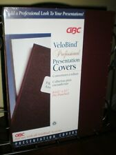 GBC Burgundy VeloBind Punched Regency Covers with Window – 25 sets