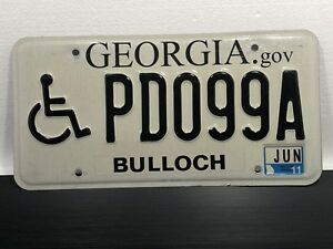 License-Plate-034-HANDICAP-ICON-034-6-11-Bulloch-GEORGIA-Motor-Vehicle-Auto-Tag-PD099A