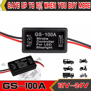 GS-100A-Flash-Strobe-Controller-Box-Flasher-Module-for-LED-Brake-Tail-Stop-Light