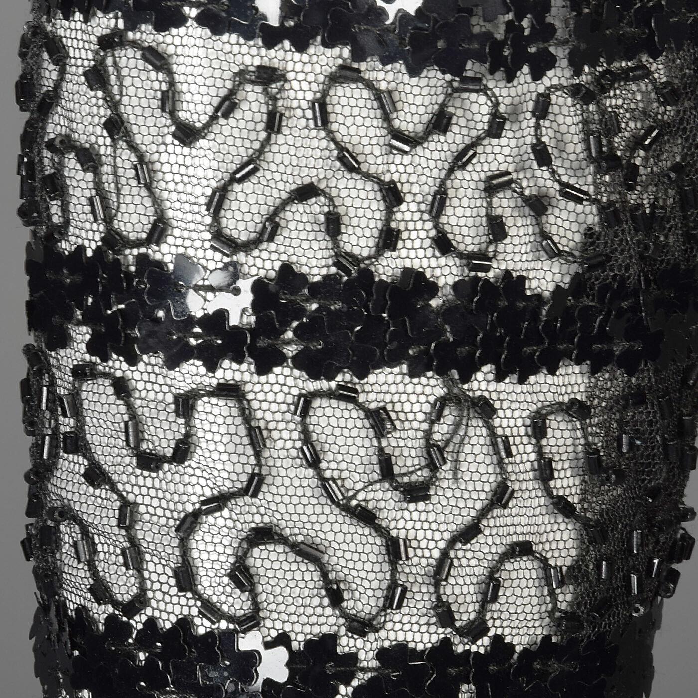 XXS Vintage 1960s 60s Ceil Chapman Long Sleeve Se… - image 4