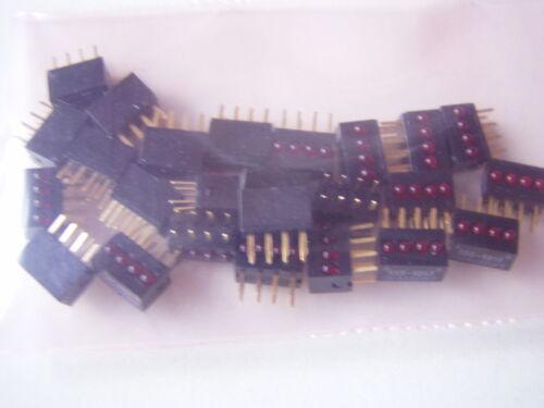 un ángulo determinado 25 St 4 veces LED-barras m102 rojo !!! Dialight
