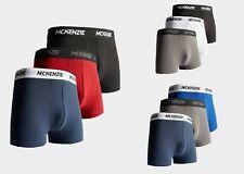 New McKenzie Men's Wyatt All Day Comfort 3 Pack of Boxer Shorts Black Grey Blue
