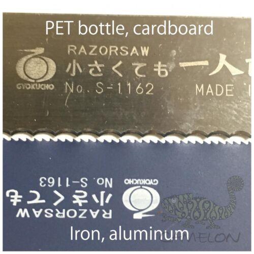 aluminium petite scie à main made in JAPAN 1163 GYOKUCHO Razor Saw 80 mm pour fer