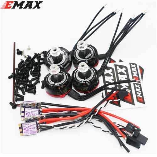 4x EMAX RS2205S 2600KV RaceSpec Brushless Motor With Bullet 30A BLHELIS Combo