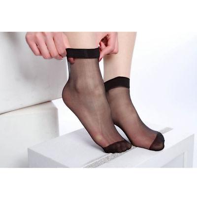 Women Summer Socks Crystal Transparent Thin Silk Socks Short Stockings