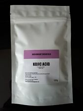 KOJIC ACID POWDER SKIN LIGHTENING/BLEACHING ADD TO CREAM/LOTION, SOAP UK 100G