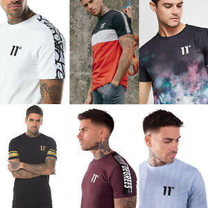 11-DEGREES-Mens-Designer-Crew-Neck-Casual-Fashion-Stylish-T-Shirt-Tee-Top