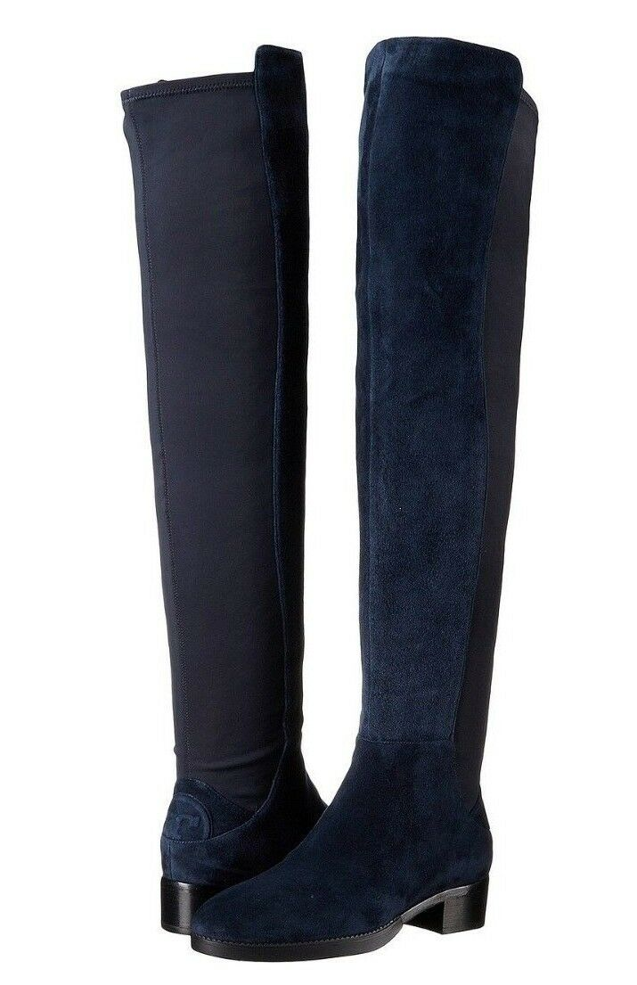 f5504b00e65 Tory Burch Caitlin Women s Bright Navy Over Knee Boot Sz 7.5m 2002 for sale  online