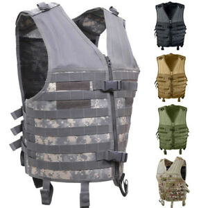 Image is loading Tactical-Assault-Vest-Camo-MOLLE-Military-Army-Modular- c643fbec99a