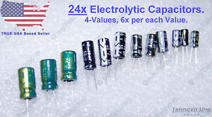 25 x 1uF 100V 105C Radial Electrolytic Capacitor 5x11mm USA SELLER Free Shipping