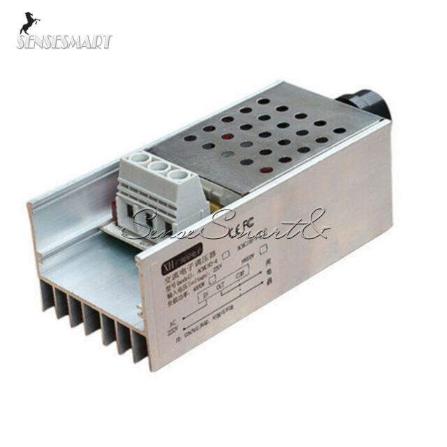 AC 220V 6000W SCR Voltage Dimmer Thermostat Regulator Motor Speed Controller