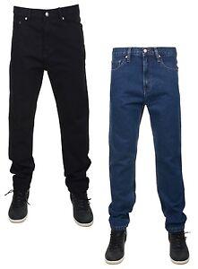 New-Men-039-s-Boston-Workwear-Denim-Jeans-Regular-Fit-All-Sizes-Black-amp-Stonewash