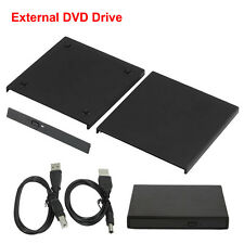 Laptop External SATA TO USB 2.0 CD DVD RW ROM Portable Drive Enclosure Case ZV