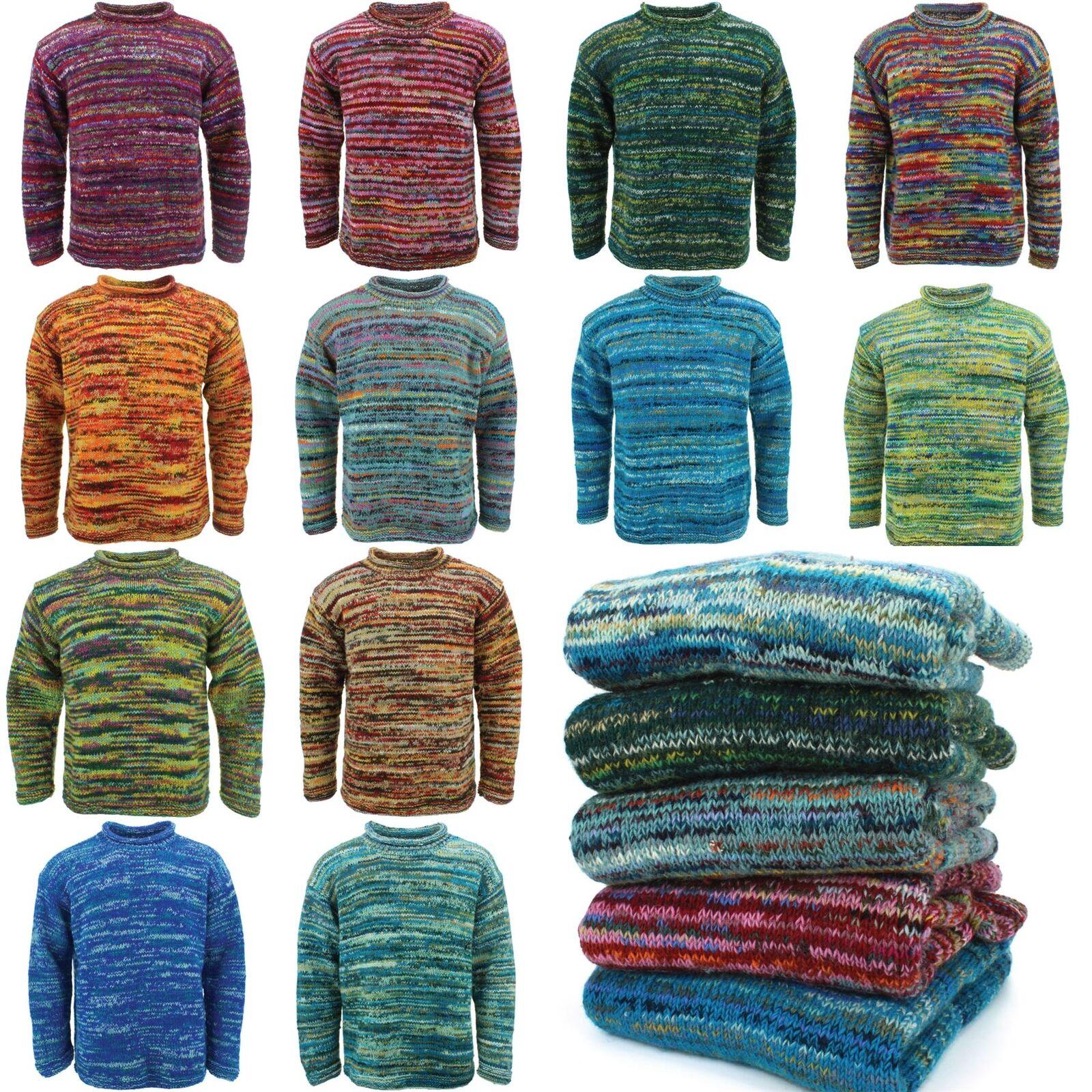 Maglione lana Space Dye con lavorazione a trama grossa a Maglia Maglione Pullover LOUDelephant Crew