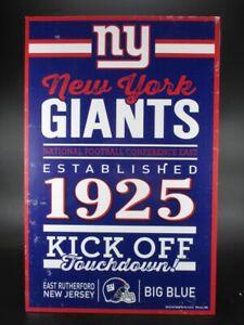 New-York-Giants-Holzschild-43-cm-NFL-Football-Established-Wood-Sign