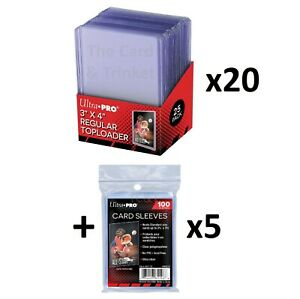 500-x-Ultra-PRO-Regular-35pt-Toploaders-500-SLEEVES-Toploader-Card-Top-Loaders