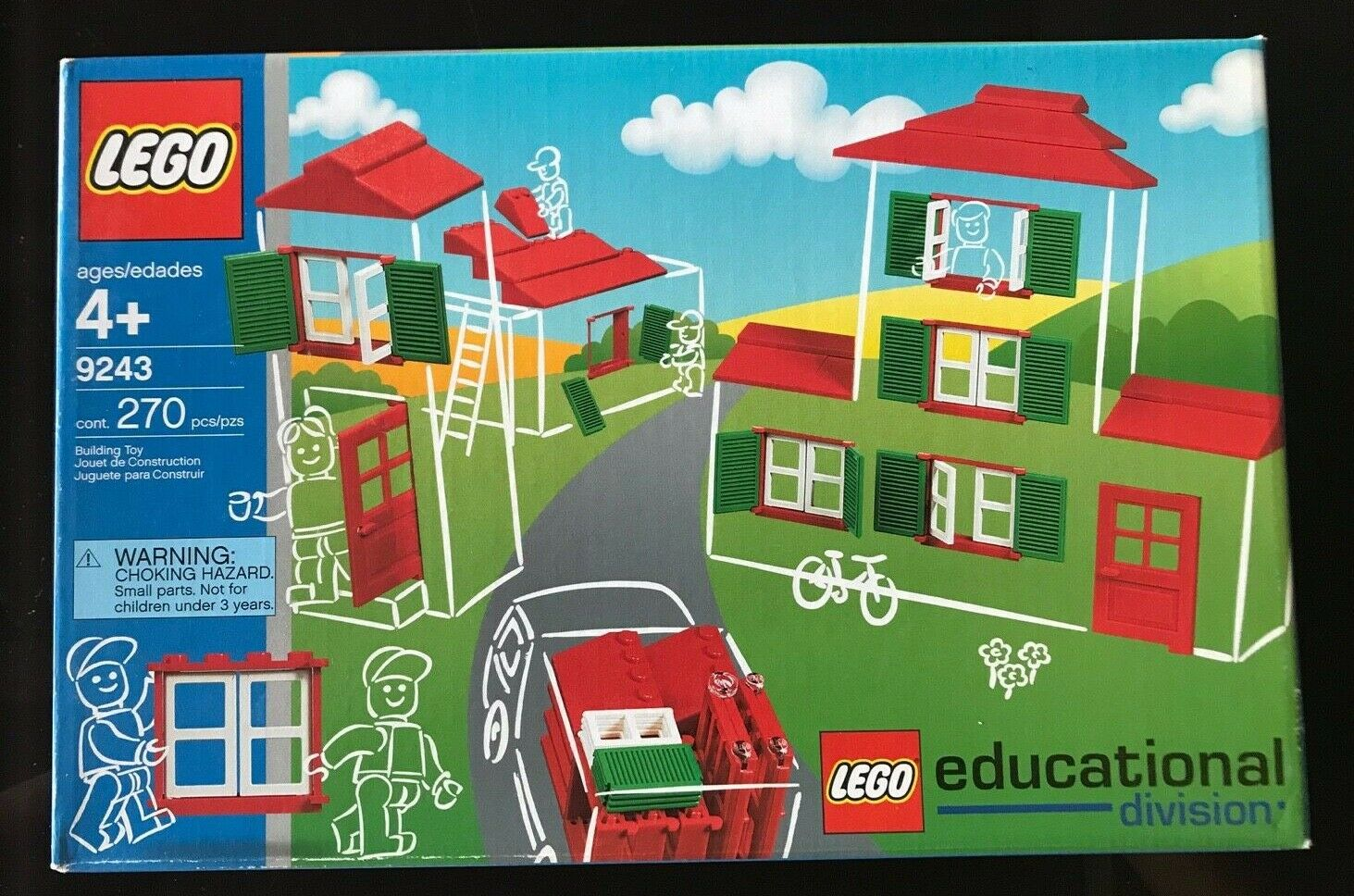 BRAND NEW LEGO Educations Doors, Windows and Roof Tiles 9243