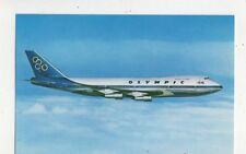 Olympic Airways Boeing 747 200B Jumbo Jet Aviation Postcard 598a