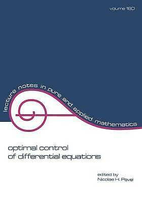 Optimal Control of Differential Equations (Lecture Notes in Pure and Applied Ma