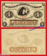 ARGENTINA BANCO OXANDABURU Y GARBINO 4 reales 1869  Pick S1781 SC- /  AU