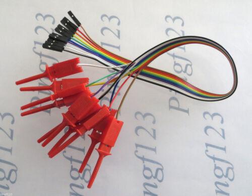 1pc 10 Pin 30 cm Ribbon Cable Female Dupont Pin 2.54m Jumper Wire w Mini Grabber