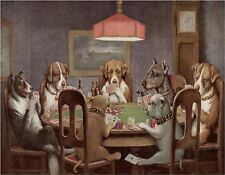 POKER DOGS   MOUSE PAD  IMAGE FABRIC TOP RUBBER BACKED
