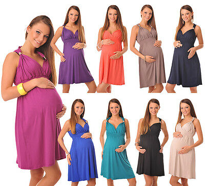 Pretty Maternity Summer Party Sun Dress Tunic Top Size 8 10 12 14 16 18 8423