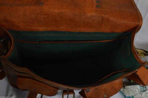 Men/'s Vintage leather Leather Satchel School Military Shoulder Bag Messenger Bag