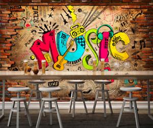 3D colorful  Music  74 Wall Paper Murals Wall Print Wall Wallpaper Mural AU Kyra