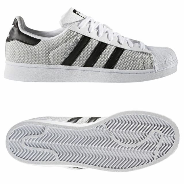 the latest 0225c c0a02 Adidas Originali UOMO Superstar Scarpe da Ginnastica Bianche UK 4 5 9 Onda  Felpa