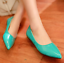 New-Fashion-Womens-Patent-Leather-Flat-Heels-Pointy-Toe-Shoes-Slip-On-Loafers-SZ thumbnail 17
