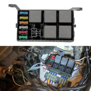 universal 6 way auto car fuse holder box with 6pcs spade. Black Bedroom Furniture Sets. Home Design Ideas